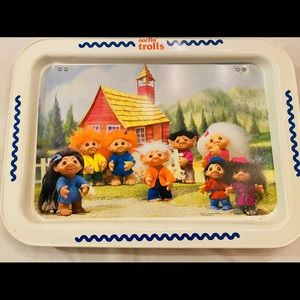 VINTAGE NORFIN TROLLS FOLD Out SERVING TRAY 1992